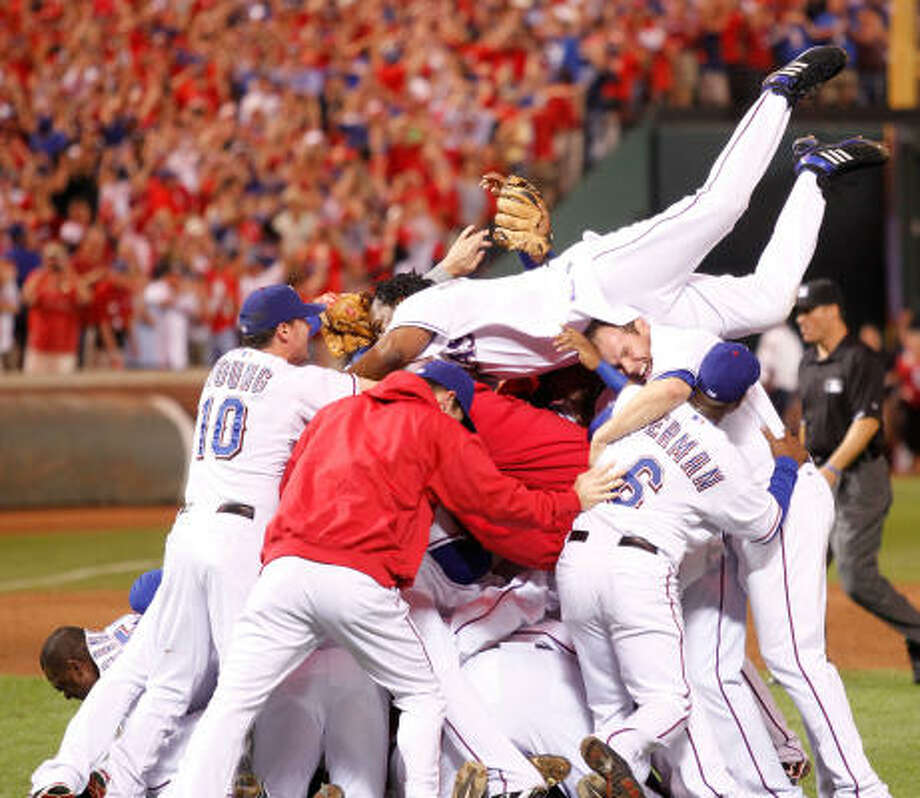 The Texas Rangers are heading to the World Series for the first time. Photo: Ron Jenkins, MCT