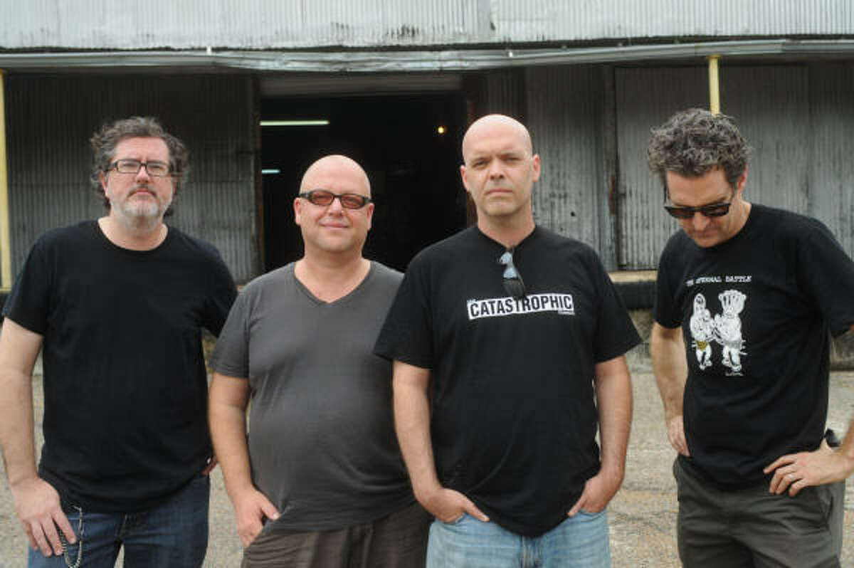 GEORGE D. HIXSON ROCK ON: Michael Haaga, from left, Black Francis, Jason Nodler and Matt Kelly star in Bluefinger.