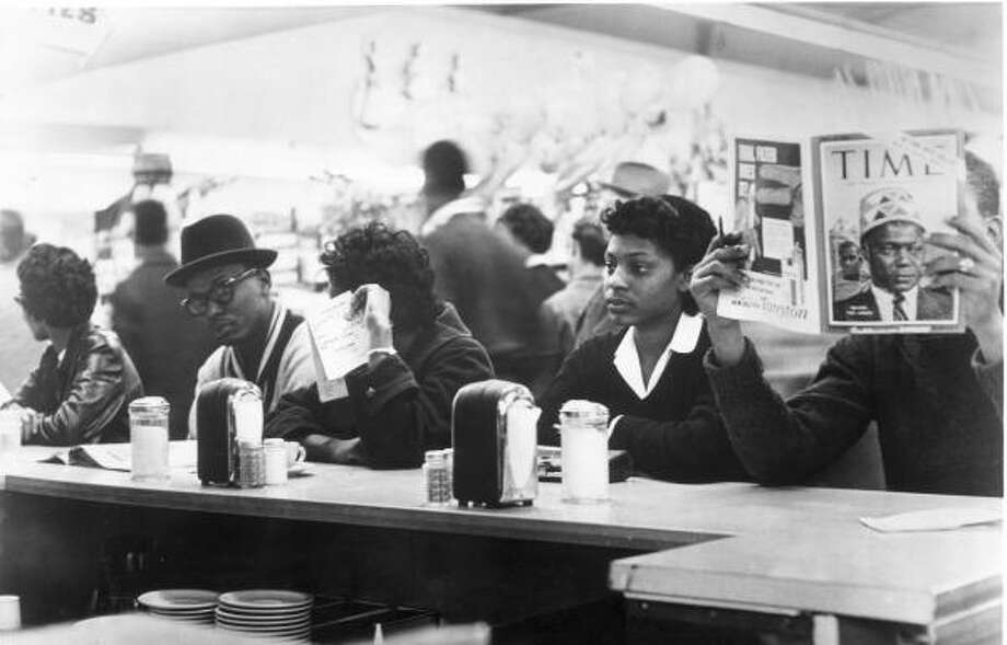 On March 4, 1960, a group of black students sat down at the store's counter and demanded service. Photo: Chronicle Files