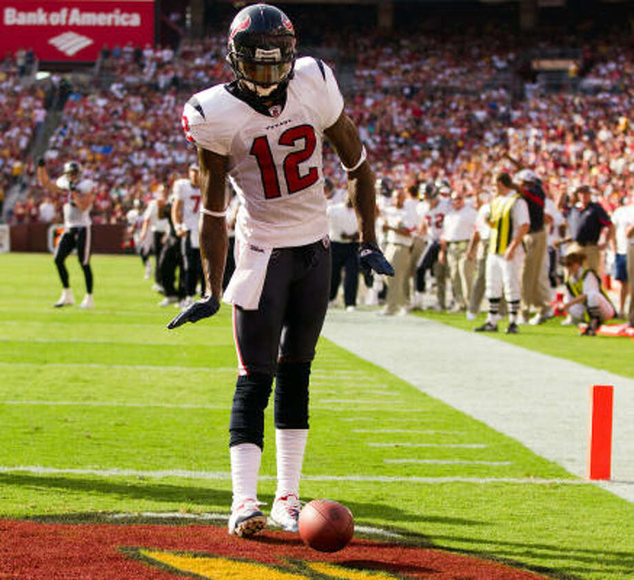 Jacoby Jones stands to benefit if Andre Johnson misses the game against the Raiders. Photo: Smiley N. Pool, Chronicle