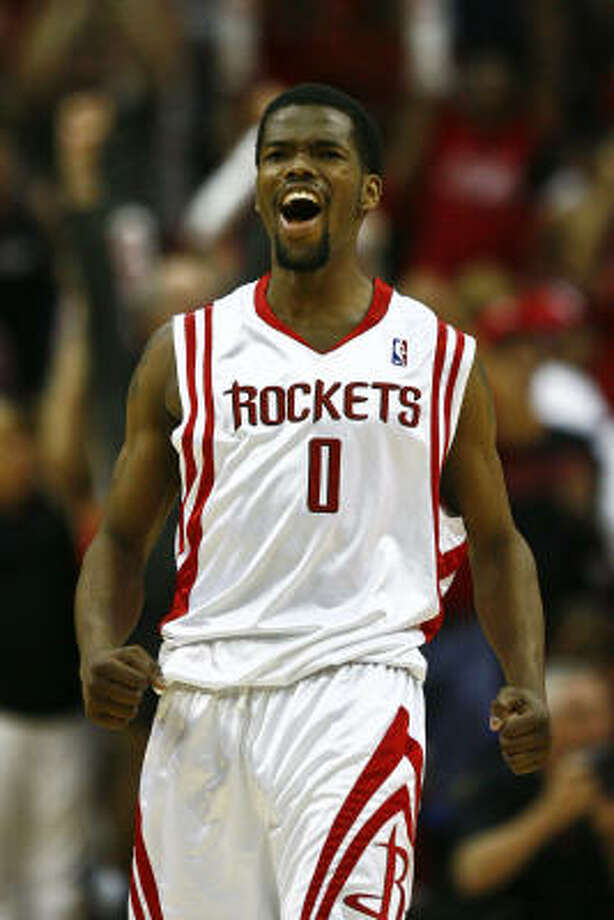 Aaron Brooks will represent the Rockets at Tuesday night's NBA draft lottery in Secaucus, N.J. Photo: Michael Paulsen, Chronicle