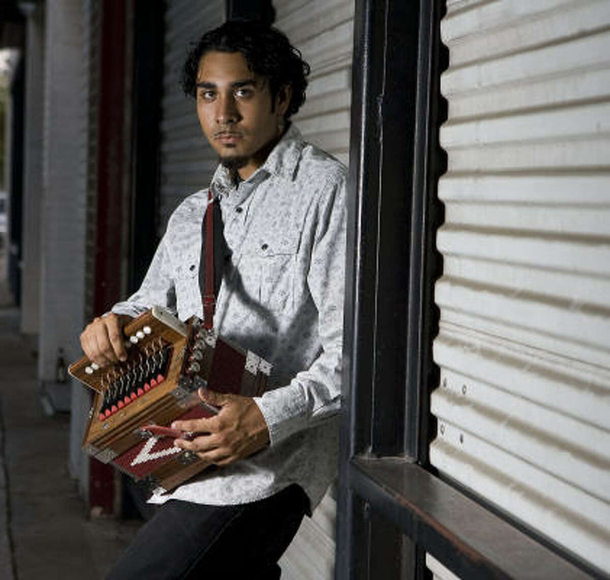 Accordion player Ruben Moreno isa finalist in the Big Squeeze Competition put on by Texas Folklife.