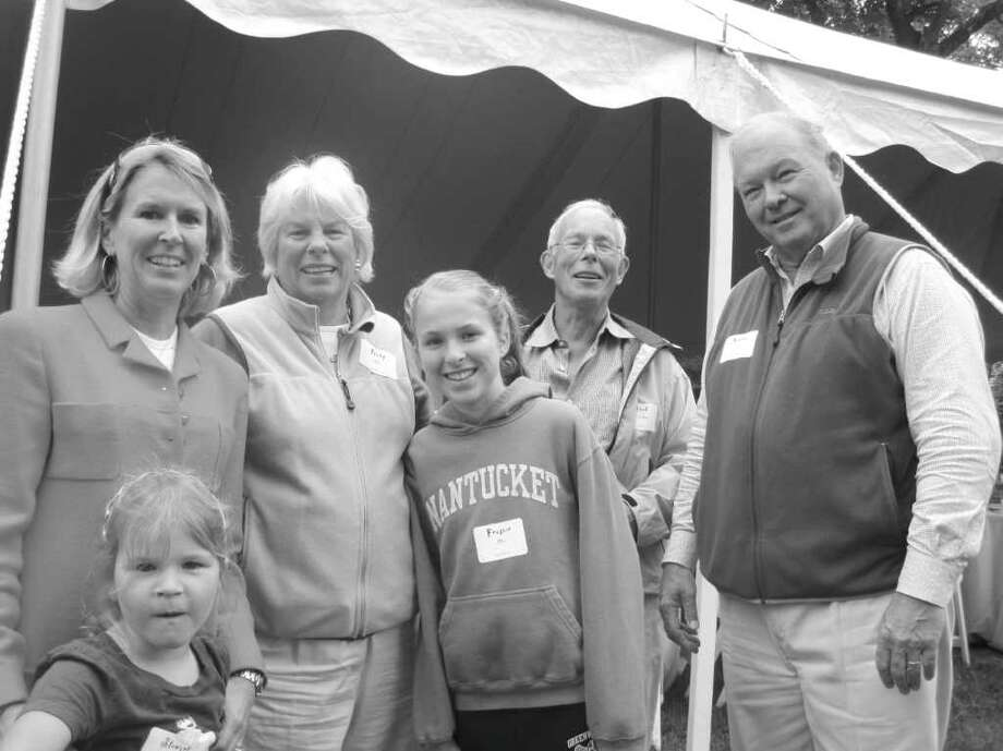 Gathering to celebrate the life of David Wierdsma of French Farm were his brother, Fred Wierdsma in the rear, his step-brother, Nathan Allen on right, and wife Tibby Allen, second from left, their daughter-in-law and two grandchildren Photo: Monte Peterson/Contributed Photo