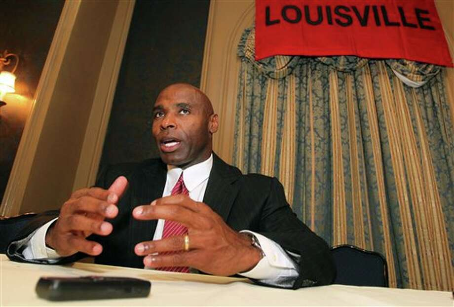 Louisville head football coach Charlie Strong speaks to the media during the Big East football media day Tuesday, Aug. 2, 2011, in Newport, R.I.. (AP Photo/Stew Milne) Photo: AP