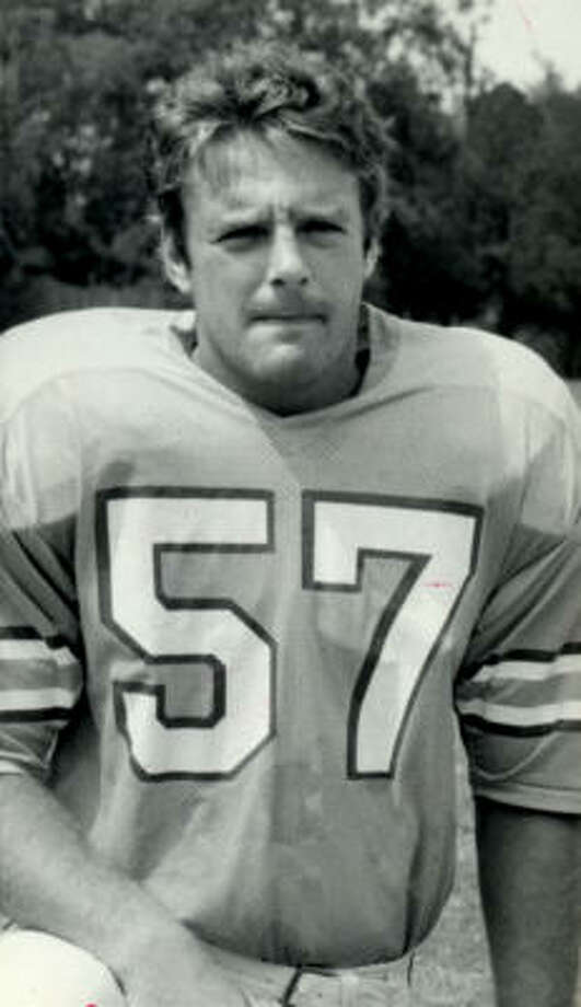 Steve Kiner played linebacker for the Oilers from 1970-78. Photo: Chronicle File