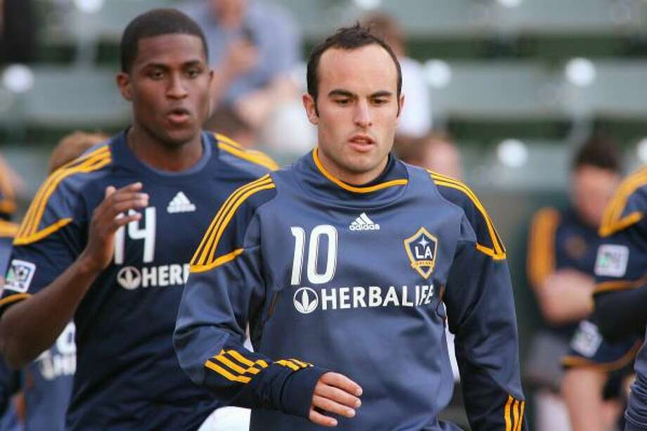 Landon Donovan, center, will take part in the MLS All-Star Game against Manchester United. Photo: Jeff Golden, Getty Images