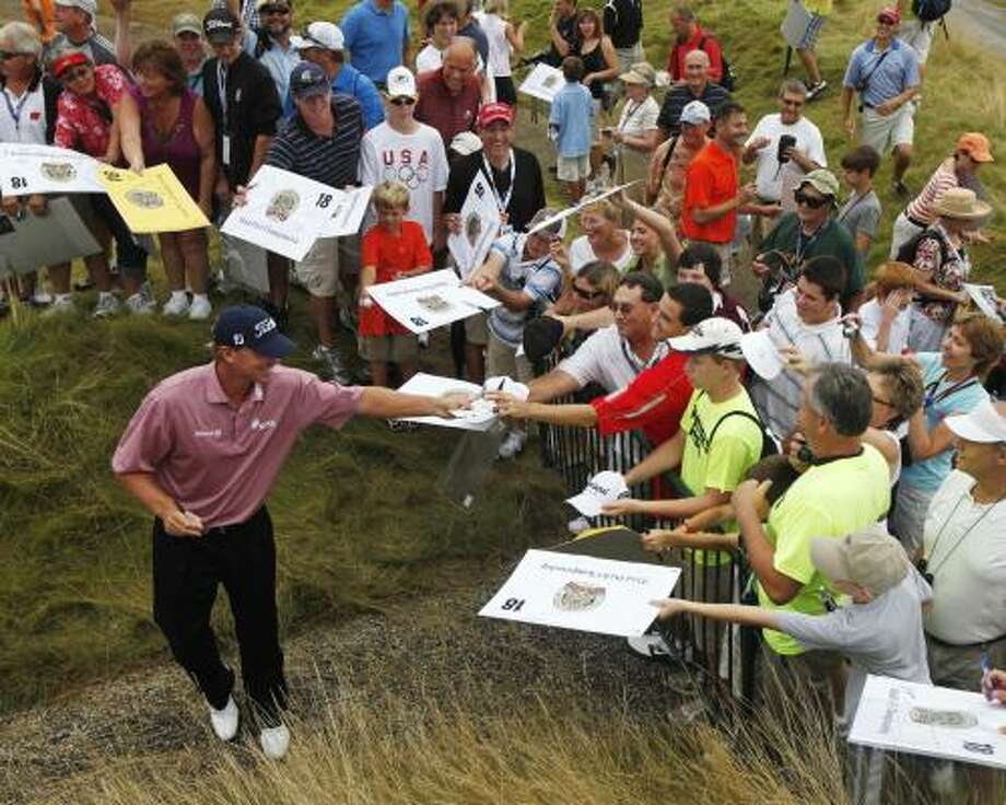 Wisconsin native Steve Stricker is undoubtedly the crowd favorite this week. Photo: Jae C. Hong, AP