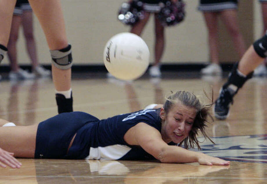 Michelle Adams  and Clements came up short against Pearland. Photo: Bob Levey, For The Chronicle