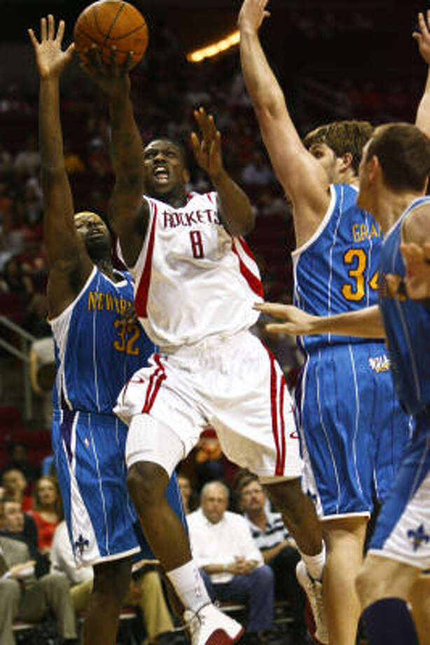 Second-year guard Jermaine Taylor says the Rockets told him he's here to stay. Photo: Michael Paulsen, Chronicle