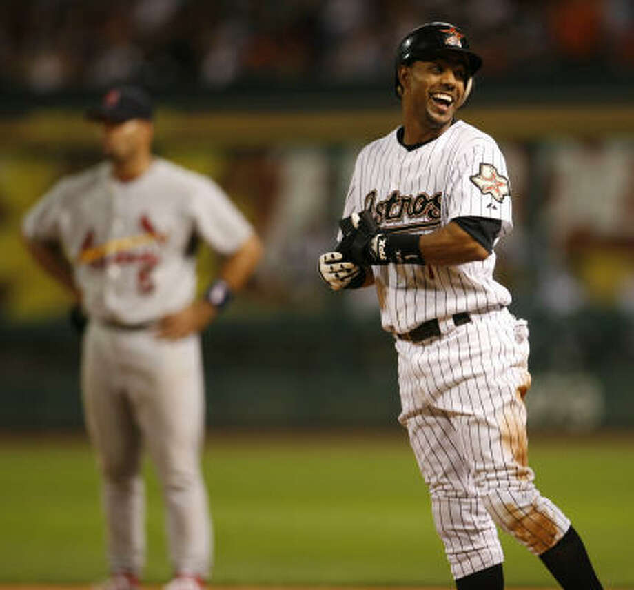 Willy Taveras, 28, played center field for the Astros until he was traded to the Colorado Rockies. Photo: KAREN WARREN, Chronicle