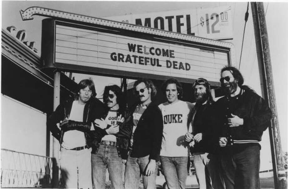The Grateful Dead (Phil Lesh, from right, Mickey Hart, Bill Kreutzmann, Bob Weir, Brent Mydland and Jerry Garcia) is the subject of a new exhibit at the New York Historical Society. Photo: Roger Ressmeyer