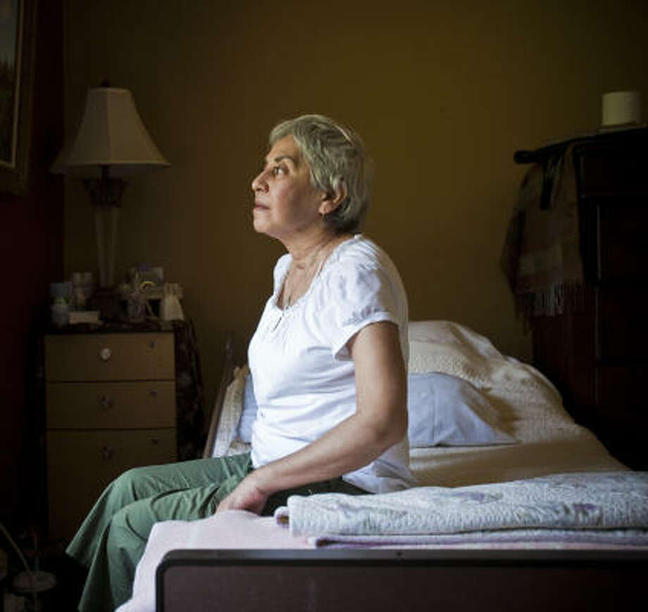 Right after Christmas, Eva Vega was hit by the H1N1 virus and was hospitalized with double pneumonia. The 63-year-old former beautician spent three months at Ben Taub General Hospital and was just released from rehab on Thursday. Photo: Eric Kayne, Chronicle