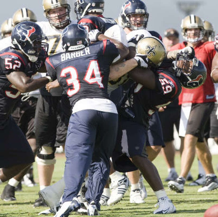 Last year, the Texans and the Saints got into multiple fights during the preseason when the two teams practiced together at Methodist Training Center in Houston. Photo: Brett Coomer, Chronicle