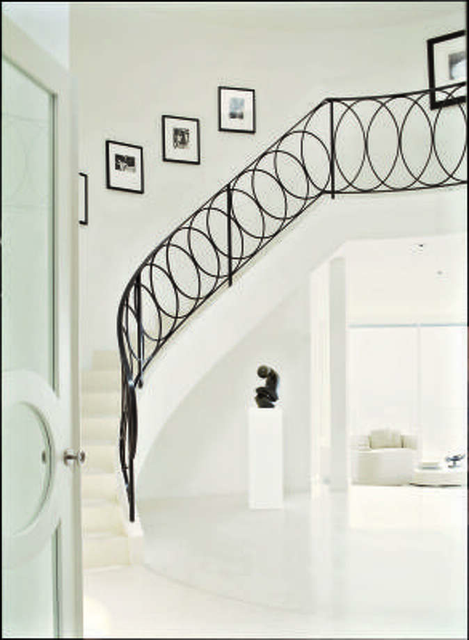 Stairway to heaven?: For a minimalist, this is an entryway to die for.