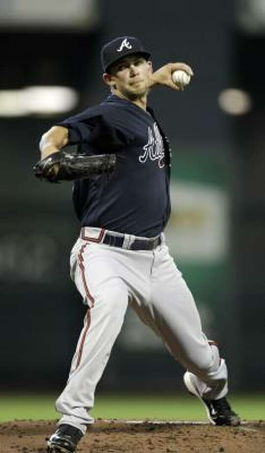 Braves starter Mike Minor allowed three earned runs and lasted six innings in his major league debut. Photo: David J. Phillip, AP