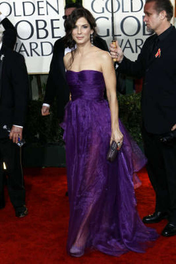 Sandra Bullock arrives at the 67th Annual Golden Globe Awards Photo: Matt Sayles, AP