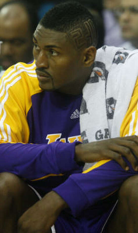 Lakers forward Ron Artest is listed as doubtful to play tonight against the Rockets. Photo: Karen Warren, Chronicle