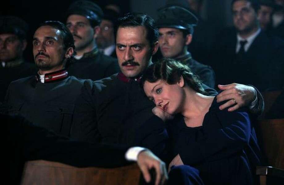 """Filippo Timi portrays Benito Mussolini, and Giovanna Mezzogiorno portrays Ida Dalser in """"Vincere."""" Photo: IFC FILMS"""
