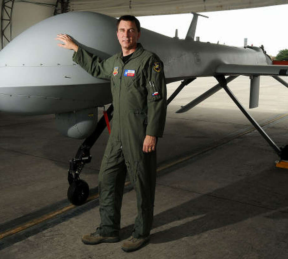 "Drones are the ""largest growth industry in the military,"" says Col. Ken Wisian, commander of the Ellington unit. Photo: Dave Rossman, Chronicle"