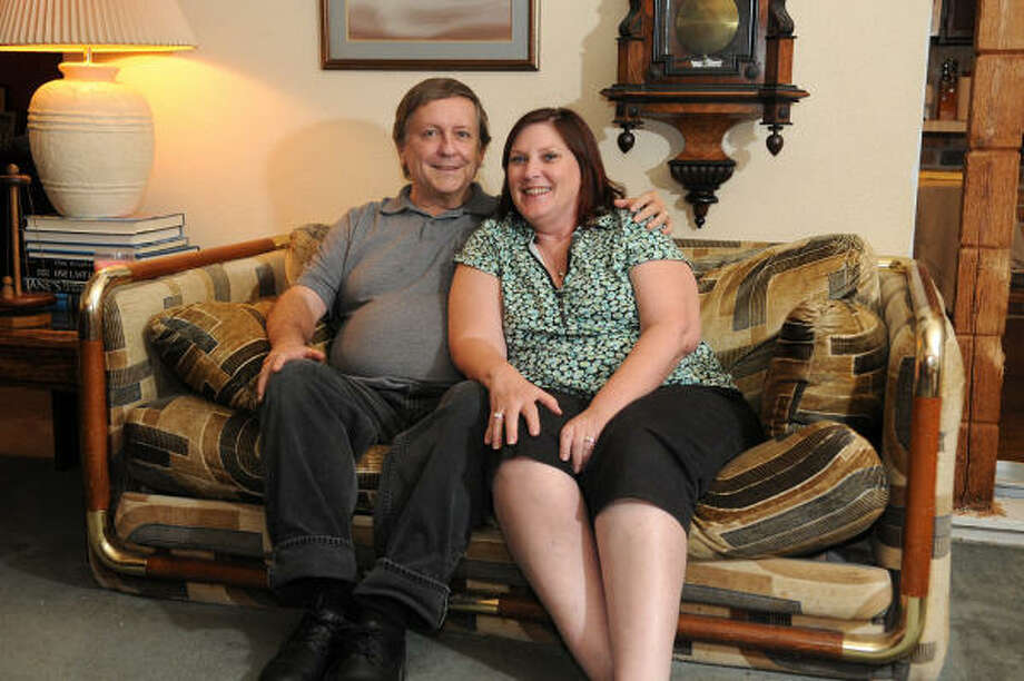 Jerry and Carolyn Dupuy knew they were meant for each other at first sight. The couple was set up on a blind date. Photo: JERRY BAKER, For The Chronicle