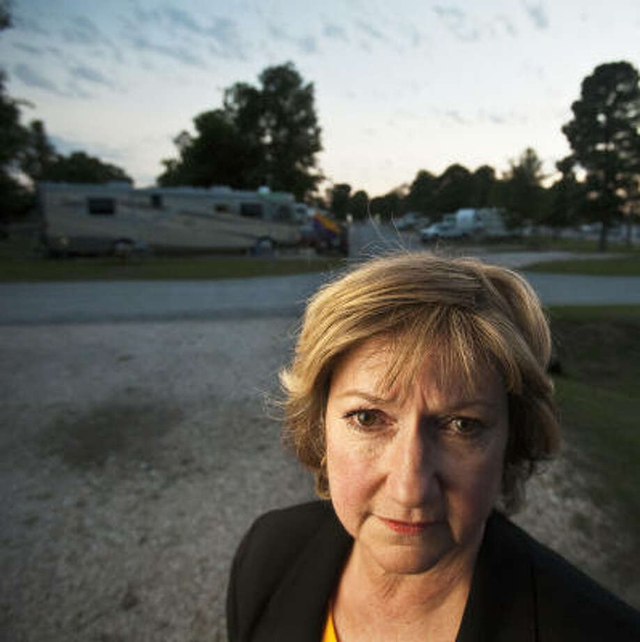 Democrats like Sharon Teal, former chairwoman of the Polk County Democratic Party, are upset that the absent Escapees Inc. members — mostly Republican — are still on the voting rolls.  Photo: Eric Kayne, Chronicle