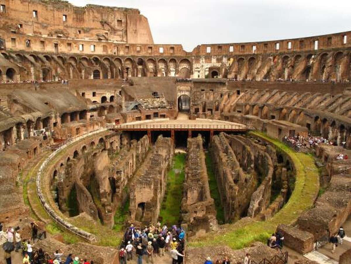 The Roman Colosseum was built in the first century AD and has, over the centuries, also served as a quarry, a church and a fortress.