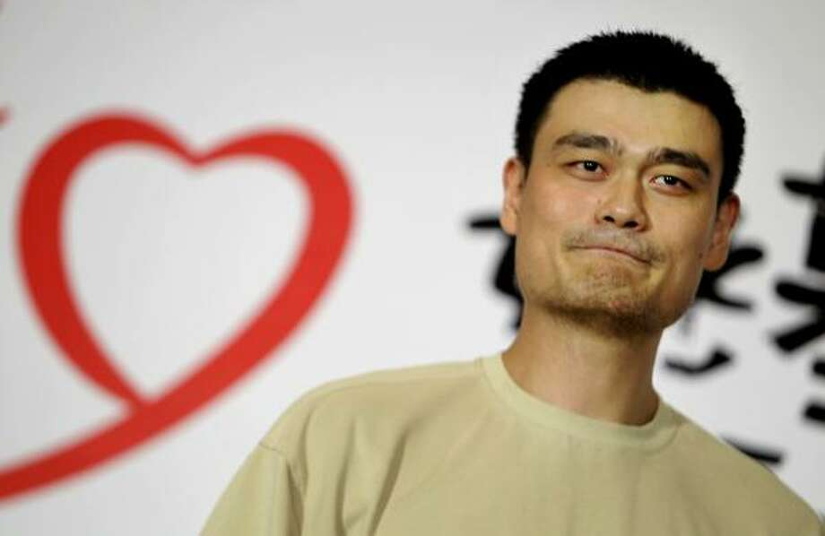 Yao Ming attends an event for his foundation in Taiwan as he ponders his basketball future. Photo: Wally Santana, AP
