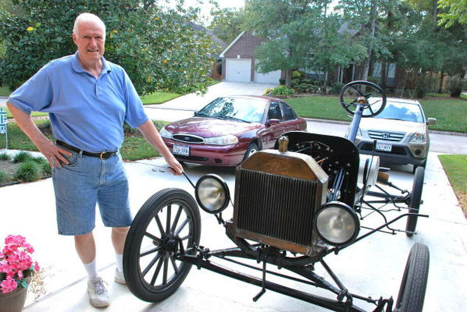 LINDSAY PEYTON: FOR THE CHRONICLE WORK IN PROGRESS: Bill Severn of The Woodlands is restoring his second Model T Ford, a car that once ruled the streets and now is one of the most popular early makes to resurrect. Photo: ALL