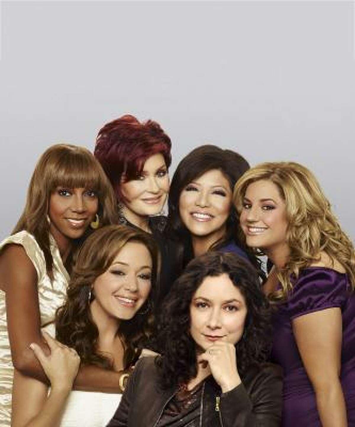 The Talk cast is, clockwise from top, Sharon Osbourne, Julie Chen, Marissa Jaret Winokur, Sara Gilbert, Leah Remini and Holly Robinson Peete.