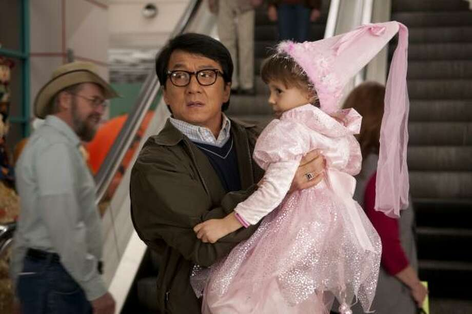 Former CIA spy Bob Ho (Jackie Chan) takes on his toughest assignment to date: looking after his girlfriend's three kids, who haven't exactly warmed up to their mom's beau. Photo: COLLEEN HAYES, ASSOCIATED PRESS