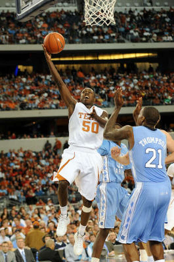 J'Covan Brown and UT's other freshmen have been playing more time and in bigger situations. Photo: Ronald Martinez, Getty Images