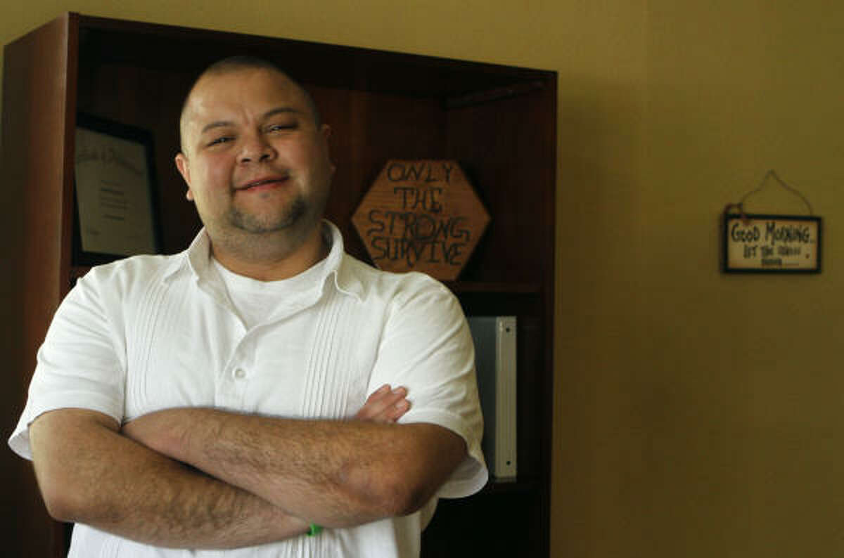 Heart transplant recipient Andy Benavides is a believer in organ donation.