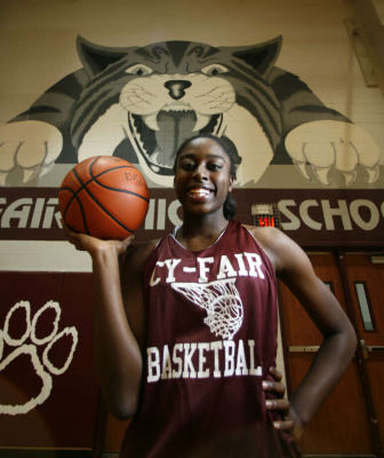 Cy-Fair's Chiney Ogwumike  is the top-rated girls basketball player, but she does not let success spoil her. Photo: Karen Warren, Chronicle