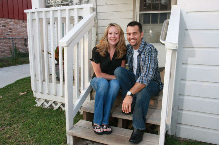 Victoria and Michael Langlais decided to rent a house after finding prices too high or homes too unsatisfactory. Photo: Gary Fountain:, For The Chronicle