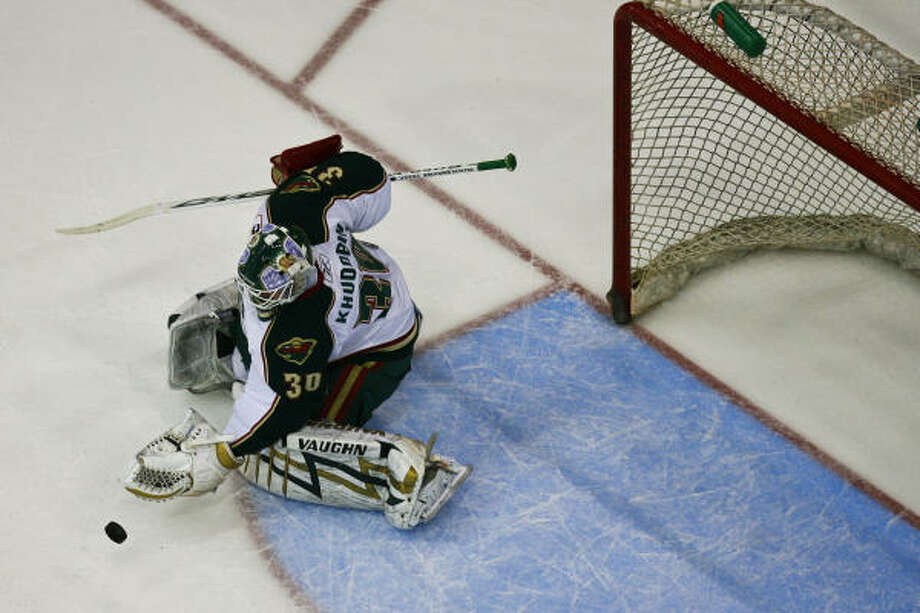 Aeros goalie Anton Khudobin will join defenseman Max Noreau at the AHL All-Star Game. Photo: Michael Paulsen, Chronicle
