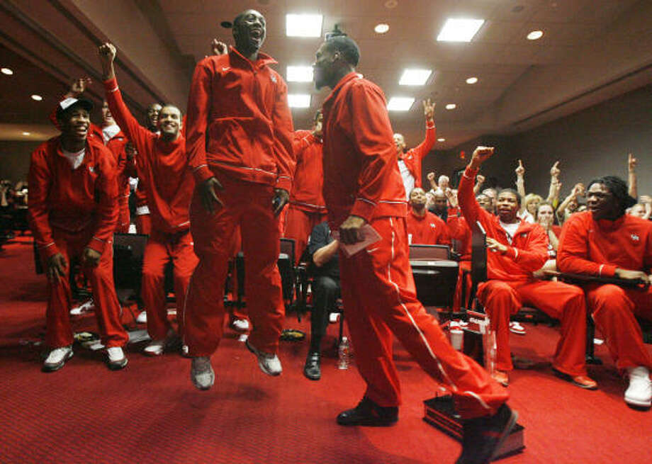The Cougars have been seeded 13th in their first NCAA Tournament appearance since 1992. Photo: Julio Cortez, Chronicle