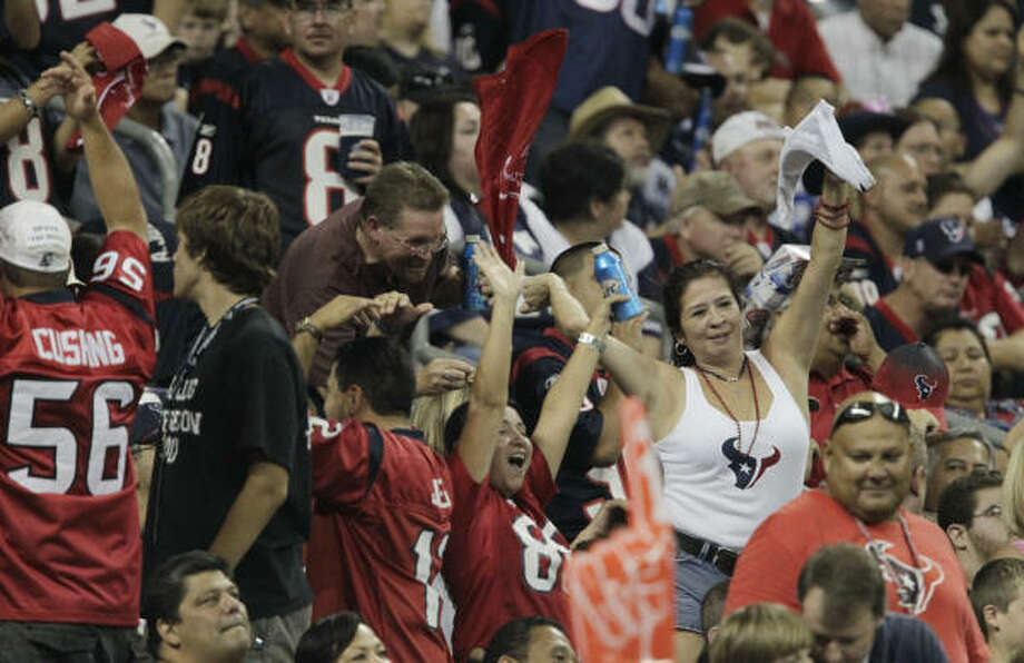 Fans, like players and coaches, expect the Texans to have their best season and make the playoffs for the first time even though they're tied with Tennessee for the toughest schedule in the league. Photo: Julio Cortez, Chronicle