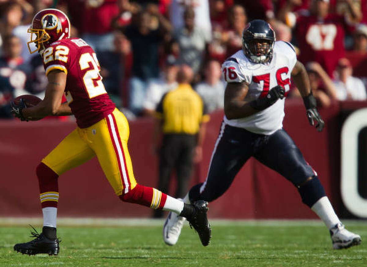 Duane Brown called his suspension 'the longest four weeks of my life.'