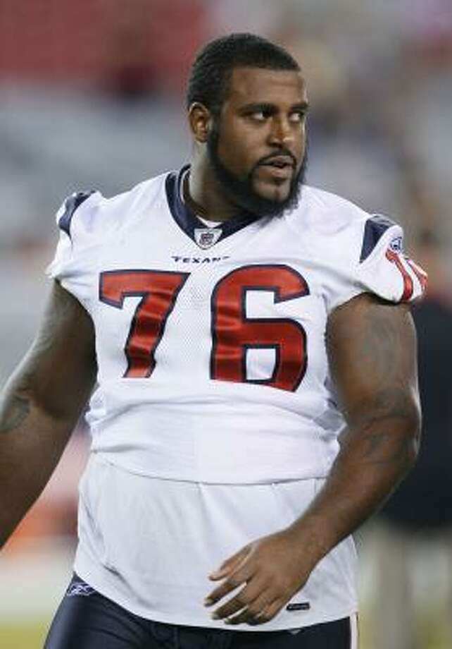 Duane Brown's mistake is inexcusable, Jerome Solomon writes. Photo: Rick Scuteri, AP