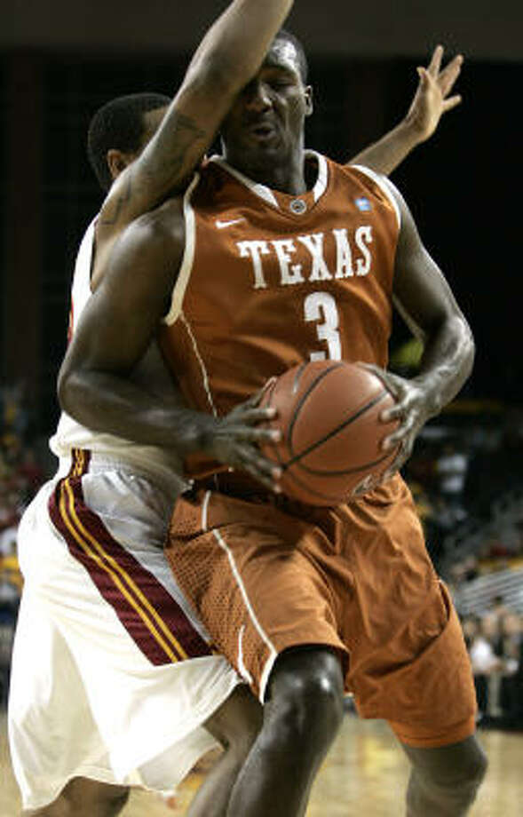 Texas guard Jordan Hamilton made just four of 13 shots in Sunday night's loss. Photo: Jason Redmond, AP