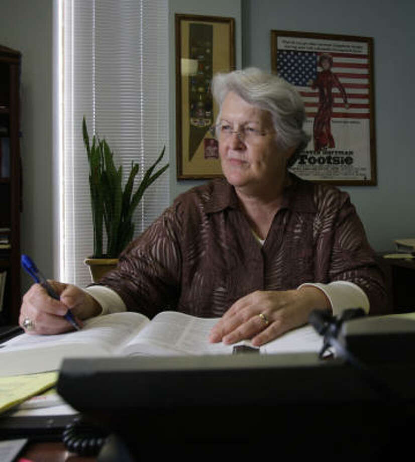 "Phyliss Frye doesn't ""want people to think I am anything other than an associate municipal court judge."" Photo: Karen Warren, Chronicle"