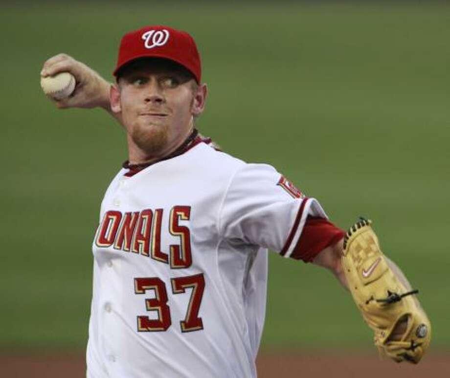 Washington Nationals pitcher Stephen Strasburg had 14 strikeouts in his MLB debut. Photo: Manuel Balce Ceneta, AP