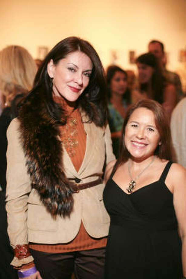 Co-chairs Miri Wilkins and Dr. Penelope Gonzalez Marks at the Dia de los Muertos Gala. Photo: Katy Anderson
