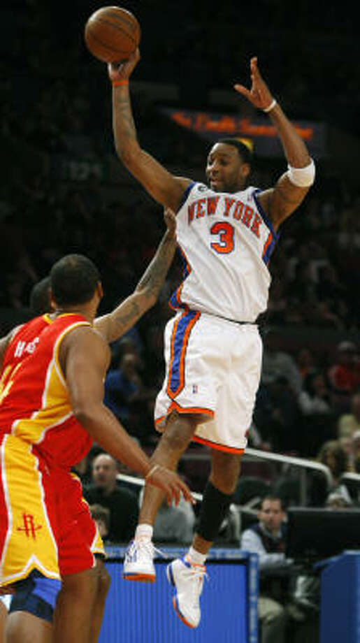 Tracy McGrady's 15 points was his fourth double-figures output in five games, and it was 15 more than he scored Friday night in a Knicks win over the 76ers. Photo: Kathy Willens, AP
