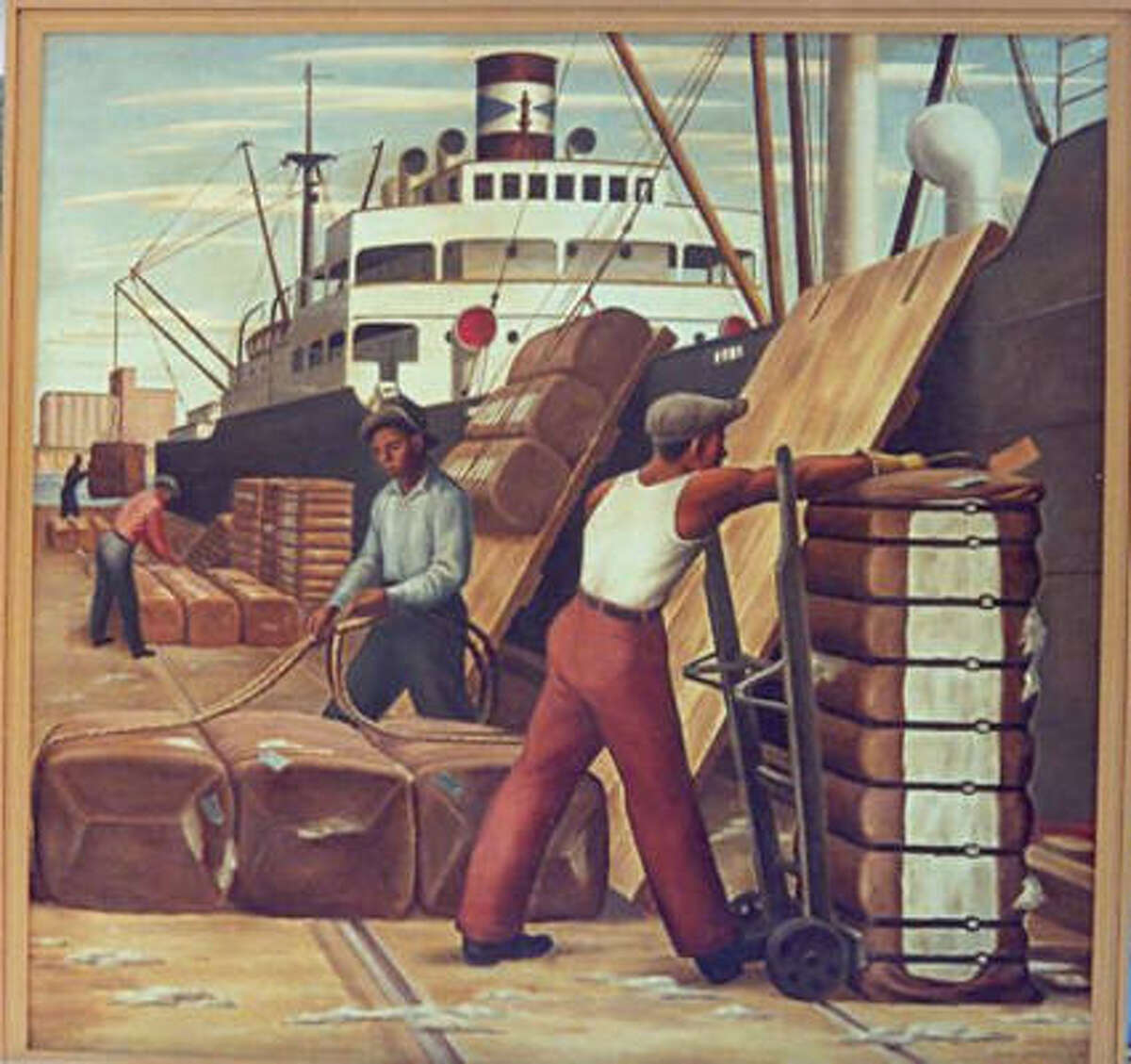 Loading Cotton by Jerry Bywaters