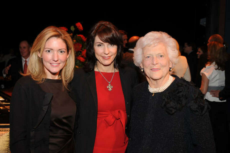 "Authors Kathryn Stockett, left, and Mary Karr spoke at Barbara Bush's ""Celebration of Reading."" Photo: David Shutts"