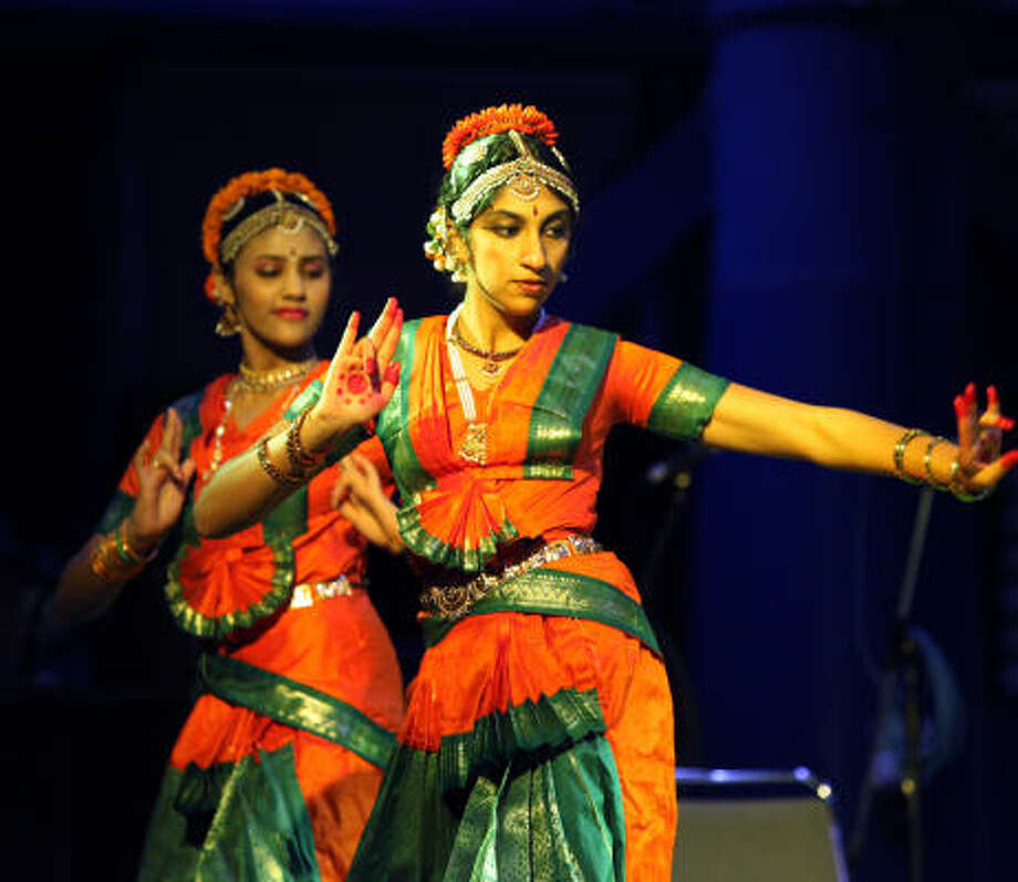 Members of the Abhinaya School of Performing Arts perform during the annual Hindu Janmashtami event at the George R. Brown Convention Center. Photo: HOLLY DUTTON