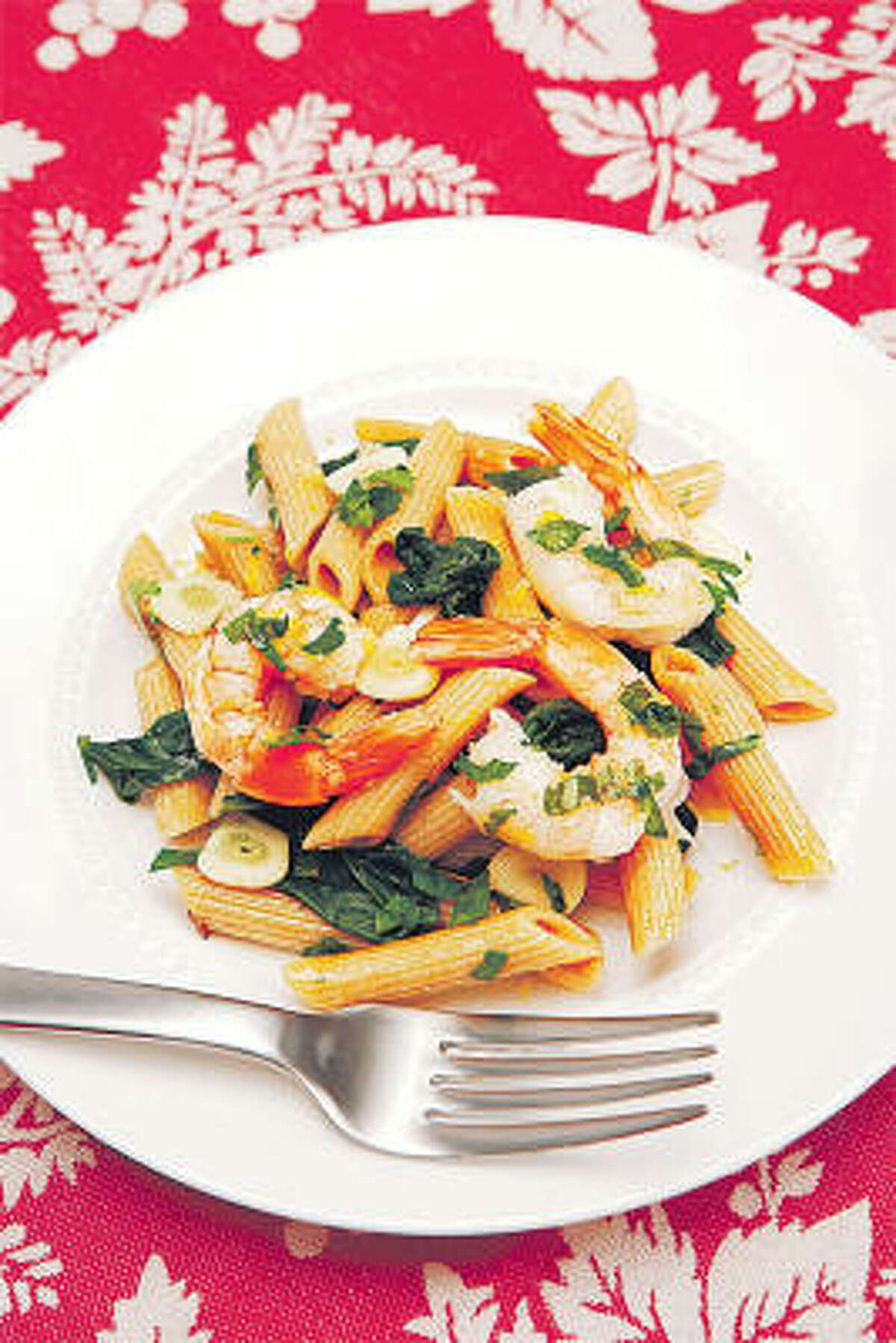 Judy Boehm's Scrumptious Shrimp and Spinach Pasta