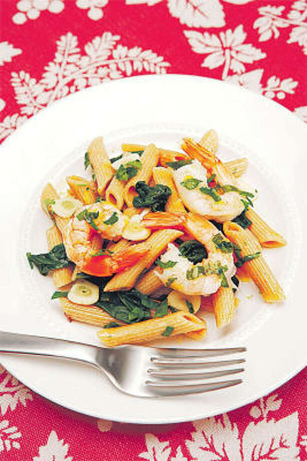Judy Boehm's Scrumptious Shrimp and Spinach Pasta Photo: QUICK & SIMPLE