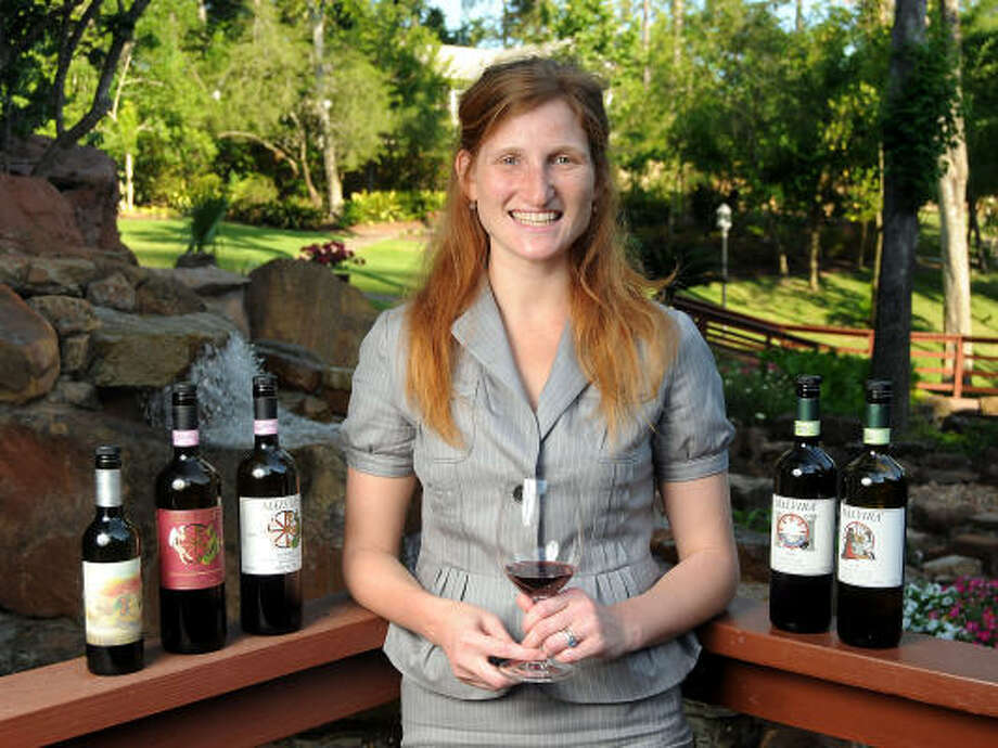 Mollie Lewis of Malvirà Wines helped introduce the company's vintages to Houston's Block 7 Wine Company. Photo: DAVE ROSSMAN